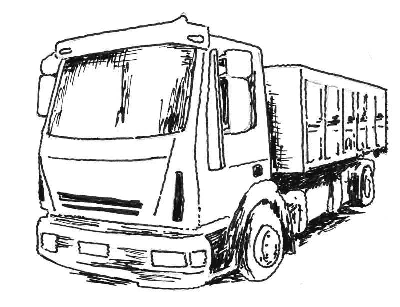 Vaihtolava kuljetusauton kyydissä